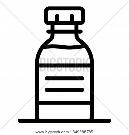 Illness Syrup Icon. Outline Illness Syrup Vector Icon For Web Design Isolated On White Background