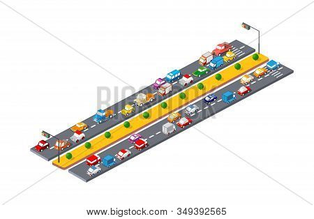 City Landscape 3d Colorful Of Stock Illustration