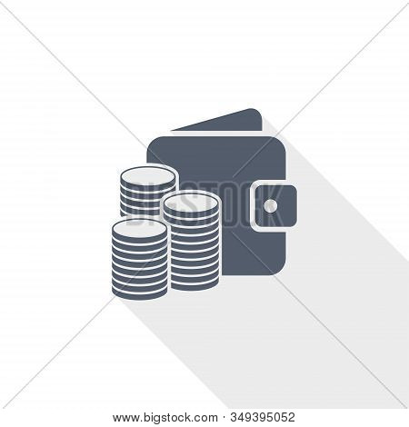 Money Vector Icon, Business And Finance Concept Flat Design Illustration