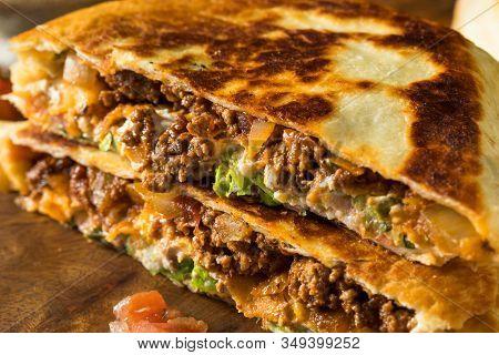 Homemade Beef Crunchwrap Quesadilla