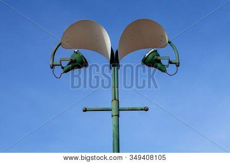 A Street Light On The Island Of Giudecca In Italy