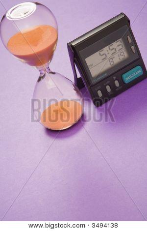 Hourglass And Digital Clock