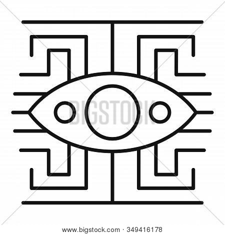 Labyrinth Eye Icon. Outline Labyrinth Eye Vector Icon For Web Design Isolated On White Background