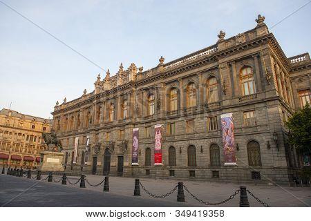 Mexico City - Jan. 15, 2020: Museo Nacional De Arte Munal On Calle De Tacuba In Historic Center Of M