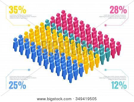 Isometric, Infographic People Elements For Business, Infographics And Design Elements
