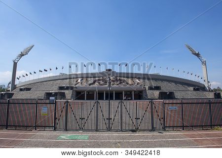 Mexico City - Jan. 15, 2020: University Olympic Stadium Estadio Olimpico Universitario At National A