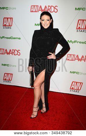 LAS VEGAS - JAN 12:  Angela White at the 2020 AVN (Adult Video News) Awards at the Hard Rock Hotel & Casino on January 12, 2020 in Las Vegas, NV