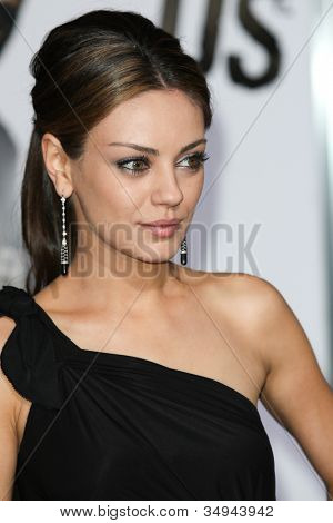 HOLLYWOOD - JAN 11:  Mila Kunis attends The Book of Eli premiere on January 11 2010 at Grauman's Chinese Theater in Hollywood, California.