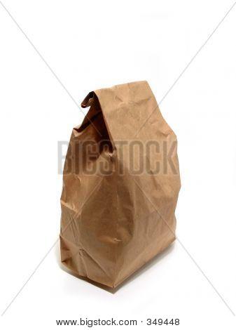Mittagessen Papier Tasche brown