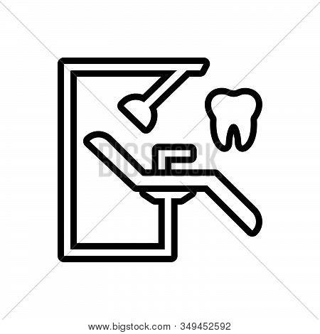 Black Line Icon For Dentist-chair Orthodontics Stomatologist Surgery Dentist Chair Treatment