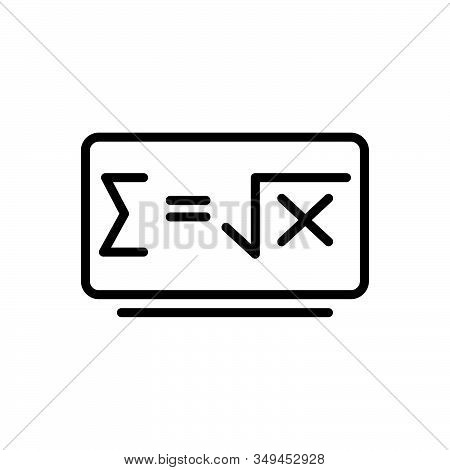 Black Line Icon For Math-formula Math Formula Emblem Education Knowledge Study Variable Calculation