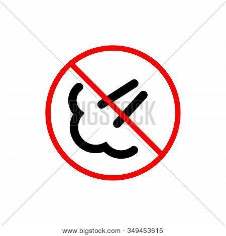 Do Not Fart Sign Vector. Do Not Fart Icon