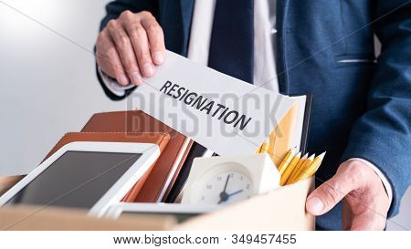 Employees Who Intend To Quit Work With Resignation Letters For Quit Or Change Of Job Leaving The Off