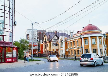 Kirov, Russia - May 12, 2019: House In The Old Part Of Kirov In Russia
