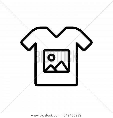 Black Line Icon For Custom-printing Tshirt Print Image Custom Printing Sticker Wear Design