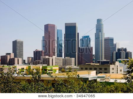 Skyscrapers in downtown Los Angeles