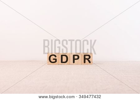 Gdpr Concept Of General Data Protection Regulation. Cubes With Gdpr Text