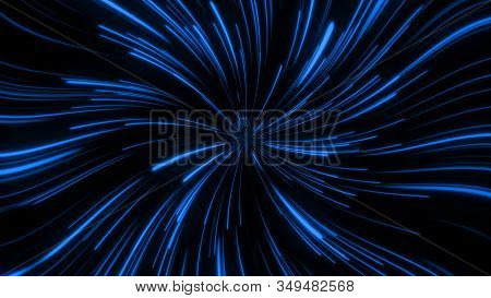 Abstract Background Glowing Light Blue Spiral Power.
