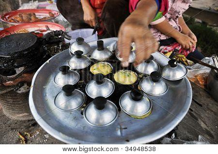 Dessert Mortar Pan Cooking Market Thailand