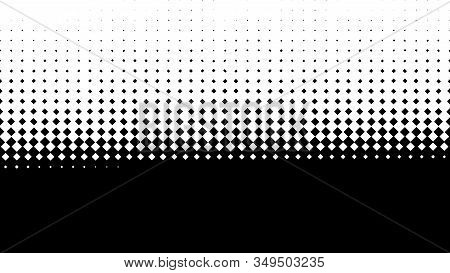 Abstract Black And White Optical Illusion With Many White Rhombuses Covering Black Background From T