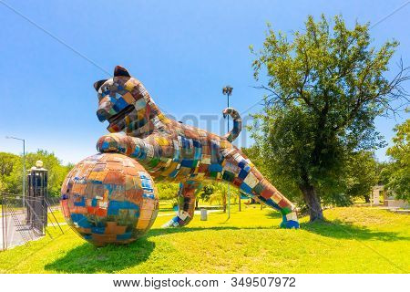 Cordoba Argentina January 30 This Sculpture Representing A Dog Was Built By The Artist Cabral Leonar