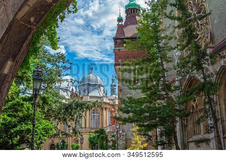 Budapest/hungary- May 8, 2018: Part View Of Vajdahunyad Castle, Built For Millennial Exhibition, Dis