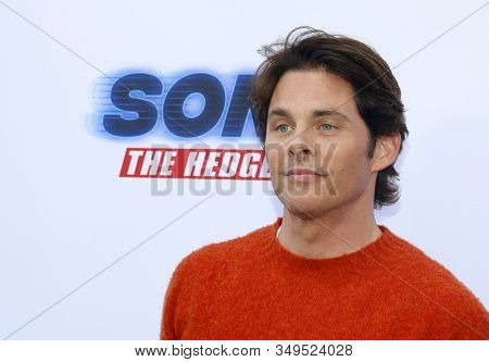James Marsden at the Los Angeles premiere of 'Sonic the Hedgehog' held at Paramount Theatre in Los Angeles, USA on January 25, 2020.