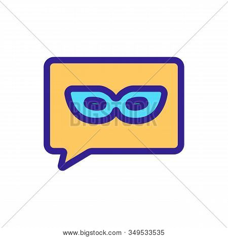 Hidden User Internet Icon Vector. Thin Line Sign. Isolated Contour Symbol Illustration