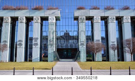 Warsaw, Poland. 7 January 2020. Modern Building Of Supreme Court Of Poland. The Highest Instance Of