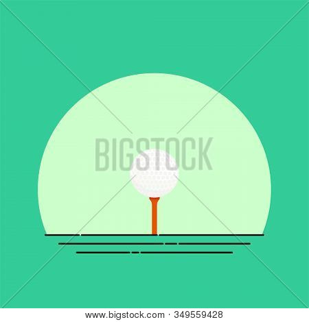 Tee And Golf Ball Vector Illustration, Tee And Golf Ball Template Design
