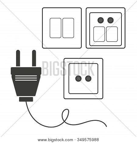 Socket Icon. Flat Illustration Of Socket Vector Icon. Socket Sign Symbol