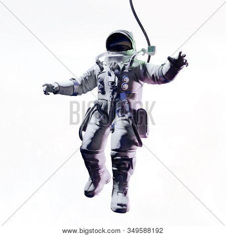 3d render of astronaut in space