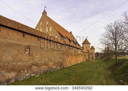 Malbork, Pomerania, Poland - January 2: Castle Of The Teutonic Order In Malbork - The Largest Castle