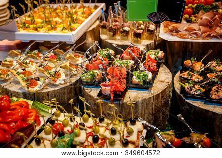 Catering Food, A Lot Of Different Snacks.