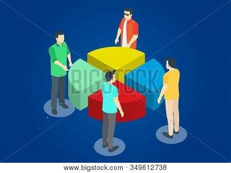 Modern Isometric Business Hands Putting Puzzle Pieces Together, Vector Illustration Suitable For Dia