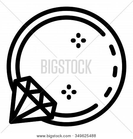 Ring Piercing Icon. Outline Ring Piercing Vector Icon For Web Design Isolated On White Background