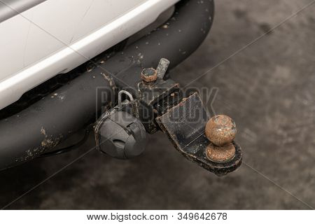 Novosibirsk, Russia - December 21, 2019:  Toyota Fortuner, Black Car  Tow Hitch.view Of The Vehicle