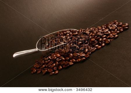 Coffee Beans And Scoop