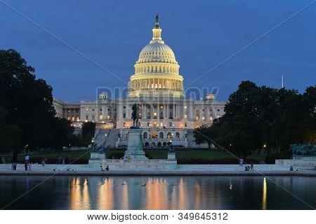 United States Capitol Building during sunset - Washington DC United States of America