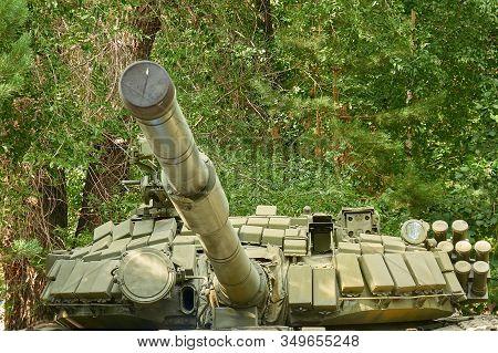 Karaganda, Kazakhstan - August 19, 2019: T-72 Soviet Main Battle Tank