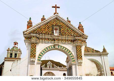 Stunning Entrance To The Basilica Of Our Lady Of Copacabana, Copacabana, Bolivia, South America