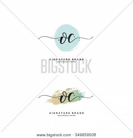O C Oc Initial Letter Handwriting And  Signature Logo. A Concept Handwriting Initial Logo With Templ