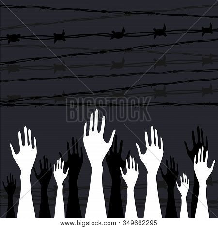 International Holocaust Remembrance Day Vector, January 27. World War Ii Remembrance Day.