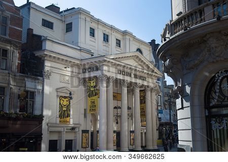 London, United Kingdom- June 2019: The Lyceum Theatre In The City Of Westminster, On Wellington Stre