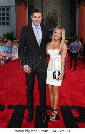 LOS ANGELES - JUL 17:  Scott Speer, Ashley Tisdale arrives at the
