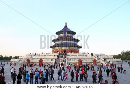 Beijing, China - October 14: People Visit The Famous Temple Of Heaven On October 14, 2011 In Beijing