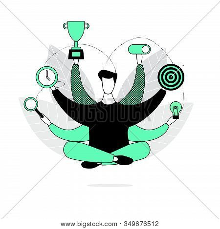 A Businessman In A Lotus Position