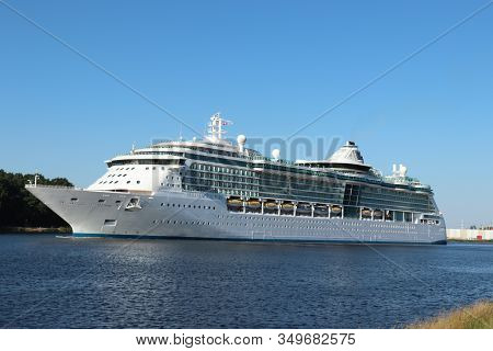 Velsen, The Netherlands -july 3rd 2018: Brilliance Of The Seas In North Sea Canal, Operated By Royal