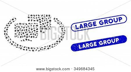 Mosaic Intranet Computers And Rubber Stamp Seals With Large Group Phrase. Mosaic Vector Intranet Com
