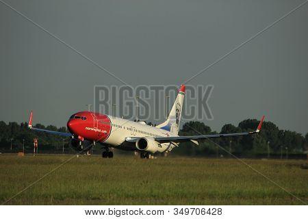 Amsterdam, The Netherlands  - June 1st, 2017: Ei-fjv Norwegian Air International Boeing 737-800 Taki